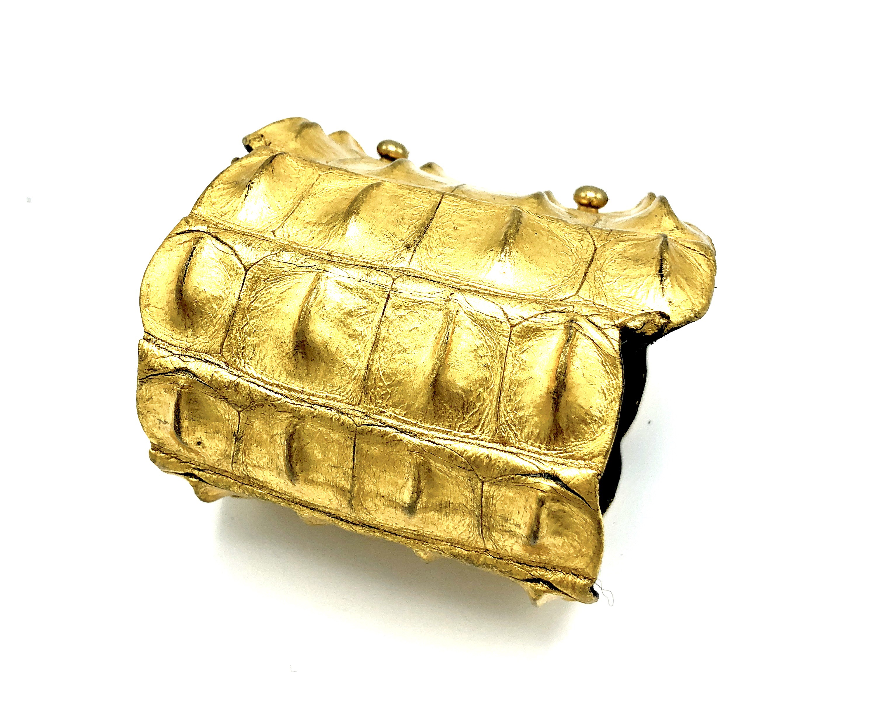 CROCODILE BRACELET/Leather/24ct Gold