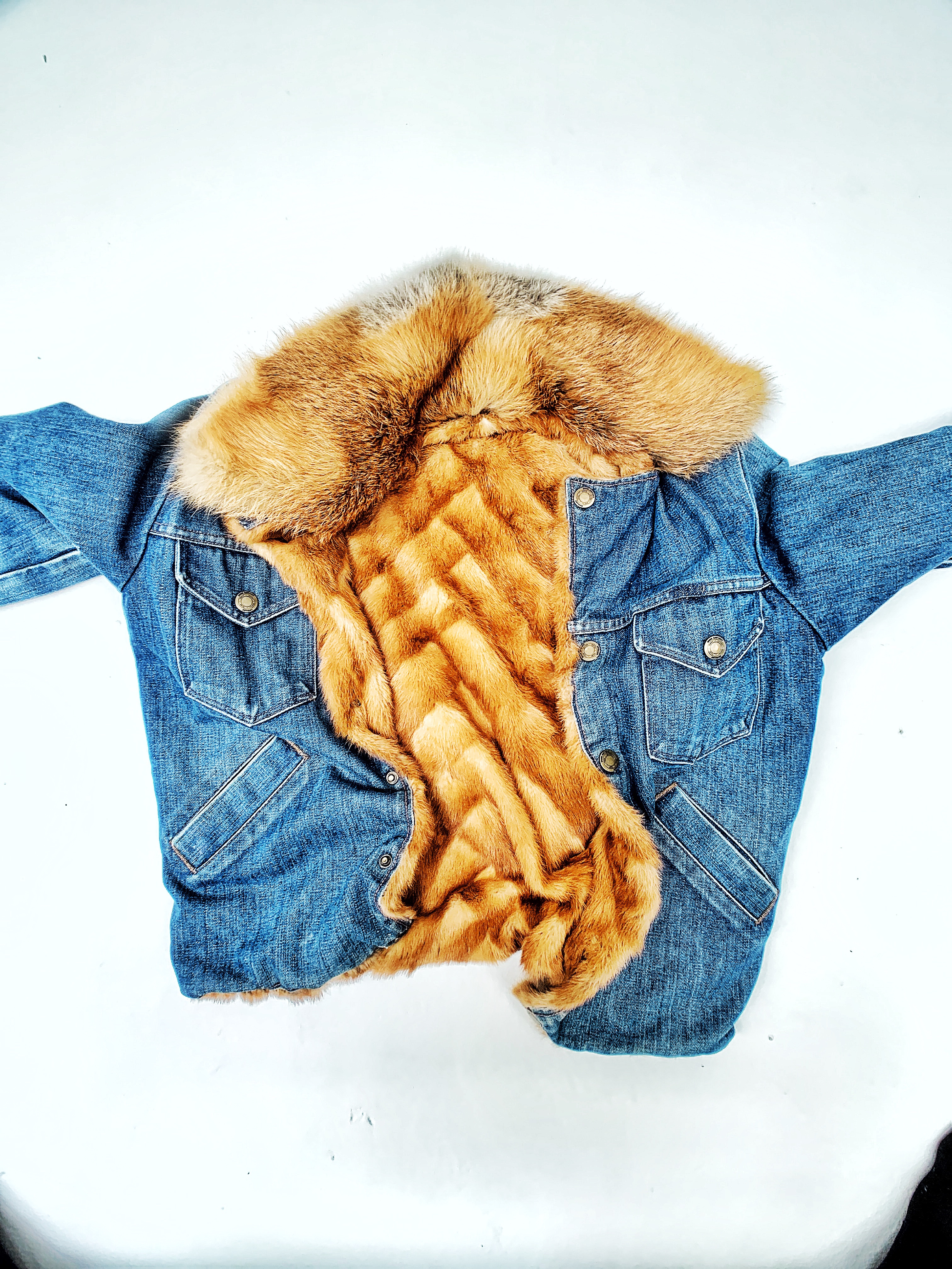 DENIM/MINK JACKET – Unisex